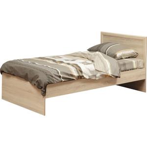 Кровать одинарная Олимп 21.55 дуб сонома 90x200