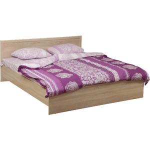 Кровать двойная Олимп 21.52-01 дуб сонома 140x200