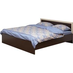 Кровать двойная Олимп 21.52-02 венге/дуб 120x200