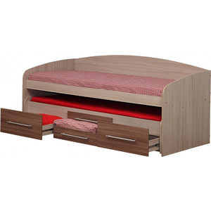 Кровать Олимп Адель-5 ясень шимо темный/светлый