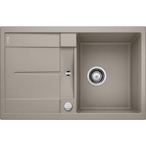 Мойка кухонная Blanco Metra 45 s серый беж с клапаном-автоматом (517345) blanco zenar 45 s темная скала с клапаном автоматом чаша слева