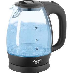 Чайник электрический Atlanta ATH-2465 черный защитное стекло perfeo для huawei p8 lite 17 0 33мм 2 5d full screen asahi 83 золотистый pf 5070 pf tg fa hw p8lg