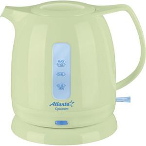 Чайник электрический Atlanta ATH-616 зеленый блузка для девочки free age цвет белый серый меланж zg 28087 mw2 размер 122 6 лет