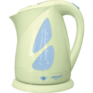 Чайник электрический Atlanta ATH-643 зеленый atlanta ath 2302 white чайник электрический