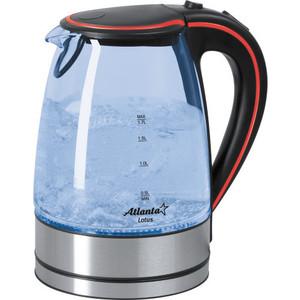 Чайник электрический Atlanta ATH-691 черный/красный