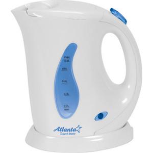 Чайник электрический Atlanta ATH-721 белый atlanta ath 2431 silver black чайник электрический