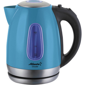 Чайник электрический Atlanta ATH-786 голубой atlanta ath 2431 silver black чайник электрический