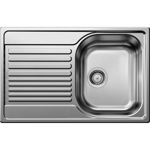 Мойка кухонная Blanco Tipo 45 s compact нерж сталь полированная (513442) кухонная мойка blanco tipo 45 s compact 513675