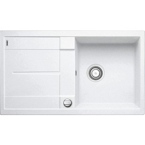 Мойка кухонная Blanco Metra 5 s белый с клапаном-автоматом (513037)  цена и фото