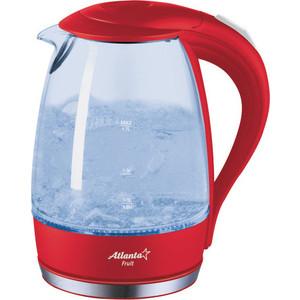 Чайник электрический Atlanta ATH-2461 красный чайник atlanta ath 735 blue