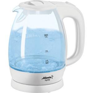 Чайник электрический Atlanta ATH-2465 белый чайник atlanta ath 2591