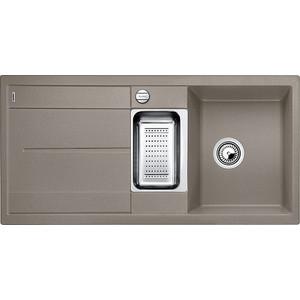 Фотография товара мойка кухонная Blanco Metra 6 s серый беж с клапаном-автоматом (517354) (85198)