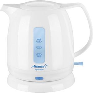Чайник электрический Atlanta ATH-616 белый atlanta ath 2431 silver black чайник электрический