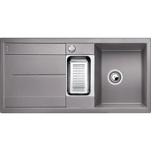 Мойка кухонная Blanco Metra 6 s алюметаллик с клапаном-автоматом (513045) смеситель для мойки blanco actis coffee