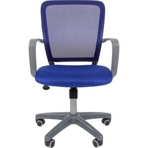 Офисноекресло Chairman 698 серый пластик TW синий bestnull синий