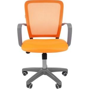 Офисноекресло Chairman 698 серый пластик TW оранжевый офисноекресло chairman 698 серый пластик tw красный