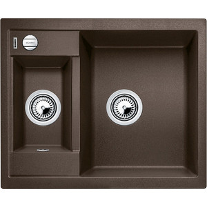 Мойка кухонная Blanco Metra 6 кофе с клапаном-автоматом (516162) адресник my family basic круглый хромированный большой