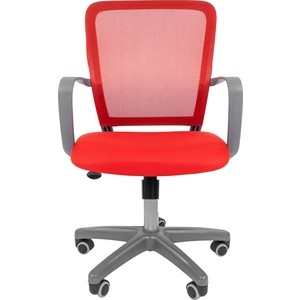 Офисноекресло Chairman 698 серый пластик TW красный офисноекресло chairman 698 серый пластик tw красный