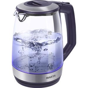 Чайник электрический Marta MT-1095 темный топаз чайник marta mt 1048