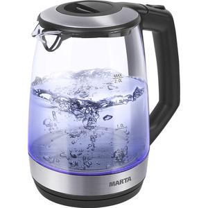 Чайник электрический Marta MT-1095 черный жемчуг чайник marta mt 1048