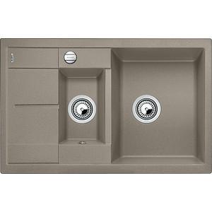 Фотография товара мойка кухонная Blanco Metra 6 s compact серый беж с клапаном-автоматом (517353) (85216)