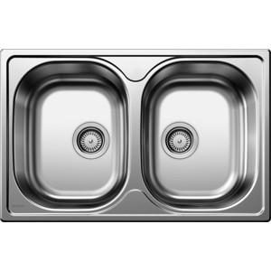 Мойка кухонная Blanco Tipo 8 compact нерж сталь матовая (513459) кухонная мойка blanco tipo 45 s compact нерж сталь декор