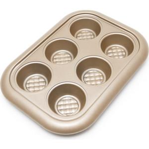 Форма для выпечки кексов 29х21х3.5 см Gipfel Merigold (2516) форма для выпечки 6 кексов gipfel twinkle 0314