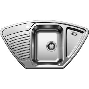 Мойка кухонная Blanco Tipo 9 e нерж сталь декор (513552) кухонная мойка blanco tipo 45 s compact нерж сталь декор