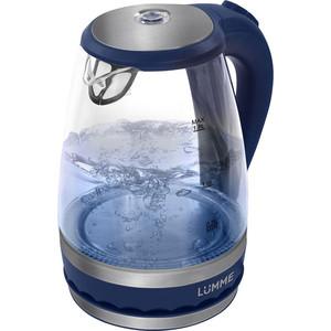 Чайник электрический Lumme LU-220 синий сапфир мультиварка lumme lu 1445 860 вт 5 л черный красный