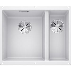 Мойка кухонная Blanco SubLine 340/160-u белый с клапаном-автоматом (513790)