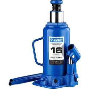 Домкрат гидравлический бутылочный Зубр 16т, T50 Профессионал (43060-16-z01) домкрат гидравлический подкатной зубр 2т t50 профессионал 43052 2