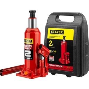 Домкрат гидравлический бутылочный Stayer 10т, Red Force (43160-10-z01) домкрат гидравлический бутылочный stayer 30т red force 43160 30 z01