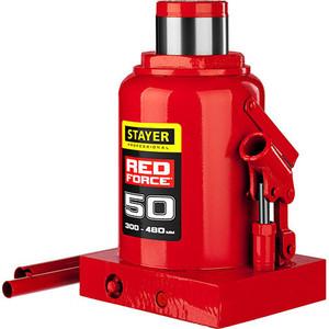 Домкрат гидравлический бутылочный Stayer 50т, Red Force (43160-50-z01) домкрат гидравлический бутылочный stayer 30т red force 43160 30 z01