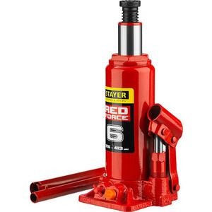 Домкрат гидравлический бутылочный Stayer 6т, в кейсе Red Force (43160-6-K-z01) домкрат гидравлический бутылочный stayer 30т red force 43160 30 z01