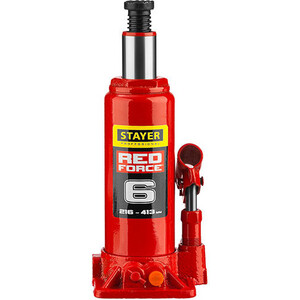 Домкрат гидравлический бутылочный Stayer 6т, Red Force (43160--z01)