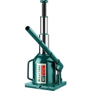 Домкрат гидравлический бутылочный Kraftool 10т, Double Ram (43463-10) домкрат стелла hm 100 10т гидравлический низкоподхватный