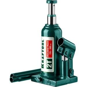 Домкрат гидравлический бутылочный Kraftool 2т, Double Ram (43463-2) домкрат гидравлический бутылочный kraftool 2т kraft lift 43462 2 z01