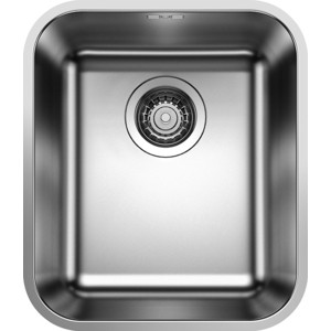 Мойка кухонная Blanco Supra 340-u полированная с корзинчатым-вентилем (518199) кухонная мойка blanco supra 180 u нерж сталь полированная с корзинчатым вентилем с коландером