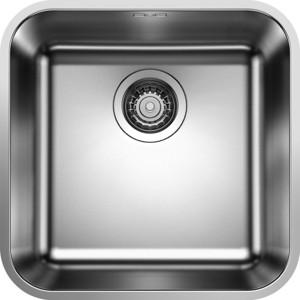 Мойка кухонная Blanco Supra 400-u нержсталь полированная (518202) кухонная мойка blanco supra 180 u нерж сталь полированная с корзинчатым вентилем с коландером