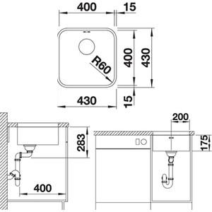Мойка кухонная Blanco Supra 400-u нержсталь полированная (518202) от ТЕХПОРТ