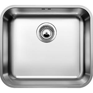 Мойка кухонная Blanco Supra 450-u нержсталь полированная с корзинчатым-вентилем (518203) кухонная мойка blanco supra 180 u нерж сталь полированная с корзинчатым вентилем с коландером