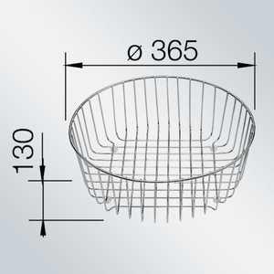 Фотография товара корзина Blanco для посуды нерж сталь (220574) (85350)