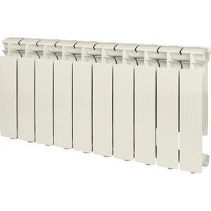 Радиатор отопления STOUT Bravo 350 10 секций алюминиевый боковое подключение радиатор отопления алюминиевый halsen 350 80 12