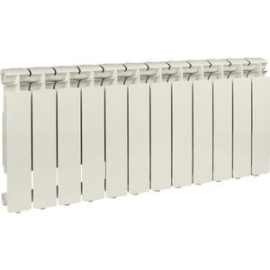 Радиатор отопления STOUT Bravo 350 12 секций алюминиевый боковое подключение радиатор отопления алюминиевый halsen 350 80 12