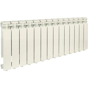 Радиатор отопления STOUT Bravo 350 14 секций алюминиевый боковое подключение радиатор отопления алюминиевый halsen 350 80 12