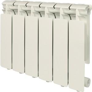 Радиатор отопления STOUT Bravo 350 6 секций алюминиевый боковое подключение радиатор отопления алюминиевый halsen 350 80 12