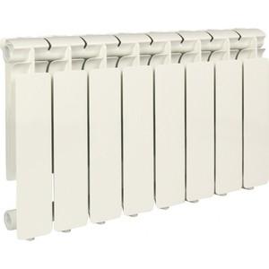 Радиатор отопления STOUT Bravo 350 8 секций алюминиевый боковое подключение радиатор отопления алюминиевый halsen 350 80 12