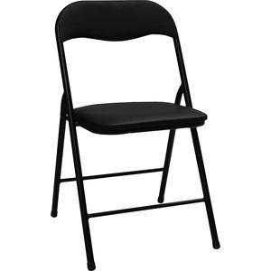 Стул складной для дома и офиса Brabix Golf CF-007 черный каркас, экокожа черный 531565 кресло офисное brabix heavy duty hd 001 экокожа 531015