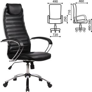 Кресло офисное Метта BC-5CH кожа хром черное 80128 yamaha bc 108mh