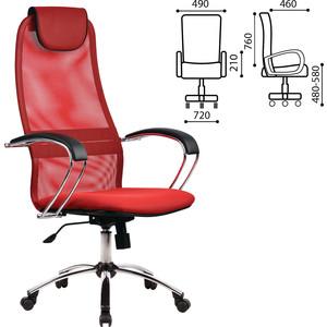Кресло офисное Метта BK-8CH ткань-сетка, хром, красное 80425 hantek 1008c 8ch pc usb automotive diagnostic digital oscilloscope daq program generator 8ch 2 4msa s vehicle teste